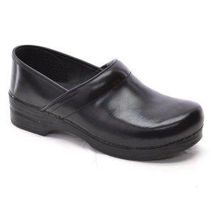 Dansko Professional Black Leather Clogs Men 45 New